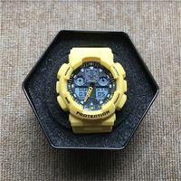 GA100 남자 아날로그 쿼츠 시계 스포츠 시계 망 군사 시계 LED 디지털 손목 시계