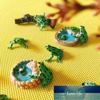 Prix usine Expert Conception Qualité Dernière Style Statut d'origine 10pcs / Vert Noir Dots Grenouille / Doll Maison // Miniatures