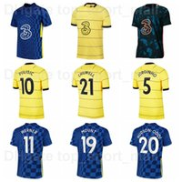 2021 2022 Män 19 Mount Soccer Jersey 11 Werner 5 Jorginho 10 Pulisic 15 Zoume 20 Hudson-Odoi Barkley 21 Chilwell 9 Abraham 29 Havertz Fotbollskjorta Kits Q-E-X