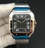 Square Sports Hommes Watch 40mm Genève 316 True Calendrier automatique en acier inoxydable avec surface romaine