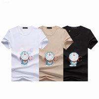 Mens T Shirt Animação Carta Impressão Casais Vestido Homens Skate Mulheres De Manga Curta Tamanho M-4XL Dos Desenhos Animados Vestuário de Marca
