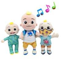 Big JJ Música boneca de pelúcia Cocomelon travesseiro macio brinquedos para bebê pelúcia jj boneca educacional cantar brinquedos cute crianças presente