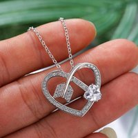 Pendant Necklaces Blaike Creative Heart Arrow Necklace For Women White Gold Filled Wedding Engagement Jewelry Valentine's Day Gifts
