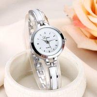 Designer Luxe Merk Horloges Lvpai Es Vrouwen Rose Gold Silver Bracelet Pols Dameslegering Eenvoudige Casual Quartz Klok