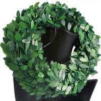 Decorative Flowers & Wreaths 7.5M Silk Garland Green Leaf Iron Wire Artificial Flower Wreath Vine Decoration DIY For Wedding Car Rattan T7P9