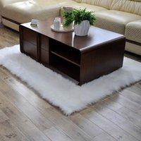 Carpets European Faux Wool Plush Sheepskin Carpet Living Room Sofa Cushion Rug Bedside Table Bedroom Customized Blanket Window Tapetes