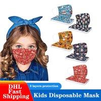 Natal dos desenhos animados crianças descartáveis máscaras à prova de poeira Respirável meninos e meninas impressas 3 camadas máscara protetora 25 estilos