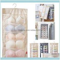 Armazenamento Arrumação Organização Home GardenStorage Boxes Caixas Snailhouse 16 Grade Dobrável Vestível Porta Da Parede Voltar Saco Saco Underwear
