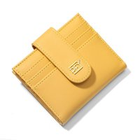 Designer Bags New Net Celebrity Niche Design Leather Business Card Short Small High Quality Favorite Thin High-end Women Portable Simple Clip Clutch Bag Wallet