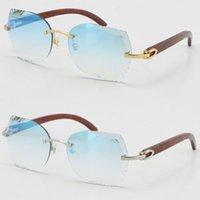 Оптовая продажа стиль RIMLELED OPTICAL 8200762 роскошный дизайнер солнцезащитные очки высокого качества унисекс декор древесные рамки солнцезащитные очки на открытом воздухе вождение Adumbral