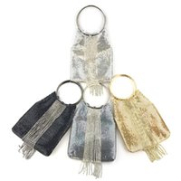 Evening Bags Factory Direct Sales Cross Border Network Hongliusu Dinner Package Aluminum Sheet Water Drill Ring Women's Soft Bag