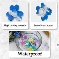 3 unids Push Bubble Sensory Fidget Anillo Fidgets Toys Simple Dimple Ansiedad de silicona Alivio de Estrés, Uno cada pequeño / Med DHE10425