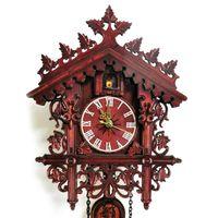 Timer vintage a cucù in legno orologio da parete appeso handcraft watch home decorazioni ristorante