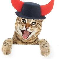 Костюмы костюмов костюмов Pet Opproup Рождественская собака щенка голова повязка на голову Cosplay Party Product Revereer Antlers Cap Costume Hats аксессуары