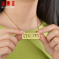 Auxauxme Mode Edelstahl Personalisierte benutzerdefinierte Name Neckalce für Frauen Männer Handgemachte Namensschild Choker Halskette Party Geschenkketten