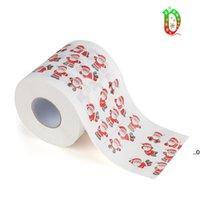 Joyeux Noël Toilette Papier de toilette Creative Print Pattern Series Rouleau de journaux Fashion Funny Novelty Cadeau Eco Lavagy Portable FWe8596