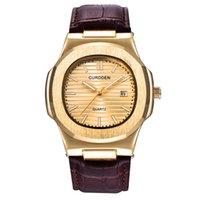 Mens Luxus Marke Uhren Mode Leder Band Date Quzrtz Armbanduhren Männer Business Geschenke Uhr Montre Homme de Marque 1520 H1012