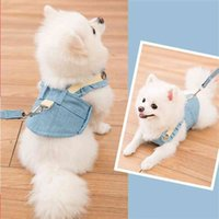 Cute Pet Chest Strap Breathable Dog Walking Rope For Small Dogs Pomeranian Corgi Pet Vest Harness Rope Pet Dog Harness Leash Set 210729