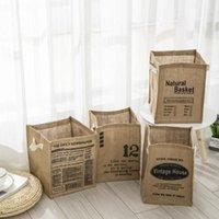Sortierung Lagerkorb Leichte vielseitige wiederverwendbare Klappwäsche-Waschsalon-Stoffbrief-Druckkörbe