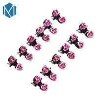 Mism 12pc set New Girls Mini Hairgrips Rose Flower Hair Claws Clamp Kids Hair Clips Wedding Bridal Womens Diy Hair Accessories