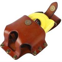 Misura di nastro stoccaggio custodia in pelle a sospensione in pelle nastro di cuoio misurazione di metro stoccaggio sacchetto di stoccaggio misurazione del righello del righello del righello misura di nastro di cuoio