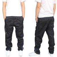 Homens Harem Jeans Preto Onda Padrão Japão Estilo Algodão Solto Baggy Denim Calças Streetwear Calças Harem Joggers Plus Size 29-421