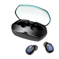 Supper Mini Bluetooth Headset 5.0 TWS Wireless Headsets with Charging Box Luxury Twins BT Earphone Hands-free Sports In-ear Earphones For Iphone 12 Pro Samsung Xiaomi