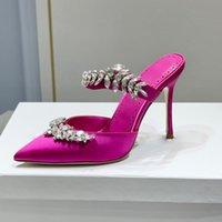 Donne pompe punta puntate baotou pantofole 9cm tacchi alti sottili strass bling bling sandali per banchetti per stile estate e primavera designer multifunzione pantofola