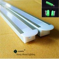 10 pz / lotto Profilo di alluminio LED 40 pollici per scheda PCB da 10 mm, alloggiamento striscia di canale incorporato con luci della barra di copertura