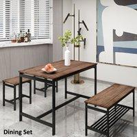 Yemek odası mobilya 4 parça masa 2 tabure ve tezgah ile mutfak için ayarla