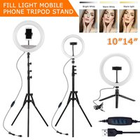 LED Selfie Ring Light Photography RingLight Phone Stand Holder Tripod Circle Fill Dimmable Lamp Trepied Streaming