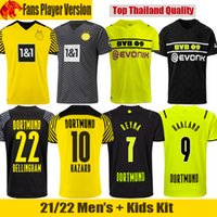 21 22 Dortmund Футболка HAALAND Borussia 2021 2022 REUS NEONGELB BELLINGHAM Футболка SANCHO HUMMELS BRANDT Men Jersey kids kit