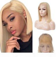 # 613 Bob Remy cabelo humano 13 * 4 perucas dianteiras de renda quente vendendo cabeça completa Conjunto 100% Virgem Brasileira cabelo estilo de moda ajustável tampa