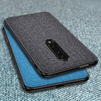 Phone Case For OnePlus 7 8 Pro 7t 6T 8T 6 9 Nord Slim Fabric Cloth Soft Bumper Hard Back Skin Cover Coque One Plus 8 T Funda