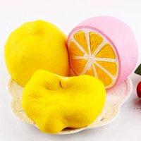 슈퍼 느린 리바운드 시뮬레이션 빵 식품 싱글 꼬리가 튀어 나온 싱글 꼬리가 튀어 나온 QUENDED 레몬 감압 장난감 HWF5765