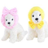 Dog Apparel Small Pet Dogs Bow Knot Head Wrap Hairband Hair Band Accessories Bathing Cap Necktie Fit The Skin Casual Activities