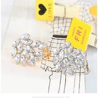Klassische Diamant-Pferdeauge-Ear-Clip-Manschette Einfache personalisierte Mode-Bolzen hohe Qualitätsschmuck-Feinpolierfarbe, die kc Gold halten