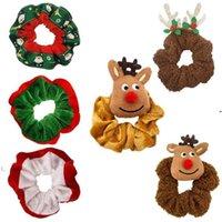 Navidad Elk Santa Grils Pelo Loop Franelette Amplio Intestino Encantador Elástico Elástico Tocado Navidad Horquilla HWB9641