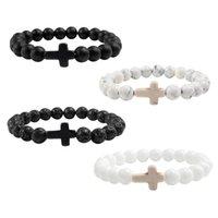 Beaded Strands Bracelets Cross Pray Religious Jewelry