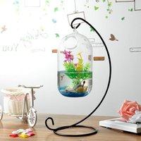 15cm Suspended Transparent Hanging Glass Fish Tank Infusion Bottle Aquarium Flower Plant Vase For Home Decoration ( Aquariums
