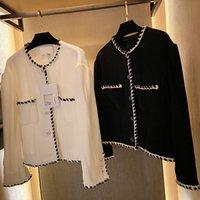 317 2021 Stile di Milano Stile Stile Maglione Brand Same Style Style Maglione Crew Neck Manica Lunga Flora Stampa Bianco Black Fashion Womens Vestiti Qian