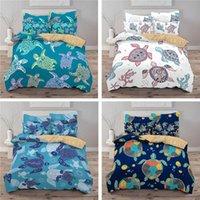 Bedding Sets Style Kids Set 3d Digital Tortoise Printing 2 3pcs Children Duvet Cover Twin Full Queen King Bedroom Decor
