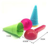 5pcs Kids Beach Toys Cone Scoop Sets Children Sand Ice Cream Cones And Outdoor (Random Color)
