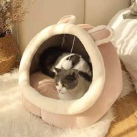 Cat Beds & Furniture Style Pet Dog Bed Round Plush Warm Comfortable Mat Basket For Small Cats Dogs Tent Cozy Cave Indoor