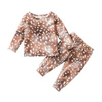 Clothing Sets 3M-4T Infant Baby Girls Boys Clothes Set Deer Print Long Sleeve Tops Shirt Pants 2Pcs Spring Autumn Outfits