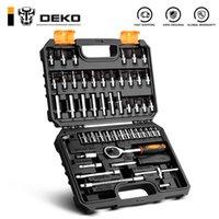 Outils de réparation de voitures de Deko 53PCS Set multifonctions Set Set Couple Torque Boîte à outils pour le travail du bois Portable Kit de réparation automatique Outils