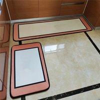 패션 디자이너 긴 부엌 매트 편지 인쇄 바닥 매트 안티 슬립 도어 카펫 침실 목욕 깔개