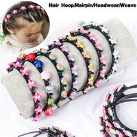 Hair Accessories 1PC Cute Hollow Girls Headband Weaving Non-slip Headwear Fixed Clip Lovely Kids Birthday Gifts