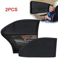 Shade Car Sunshade Anti-mosquito Rear Side Window For UV Protection Black Stretchable Opaque