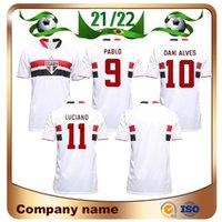 21/22 Sao Paulo Fussball Jersey Hallo Aom # 9 Pablo # 10 Danlves # 11 Luciano Shirt Luan Igor Gomes Brenner Football Uniform